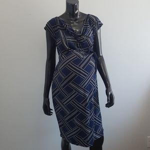 Motherhood Maternity Dress Midi Size L